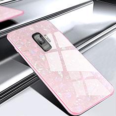 Custodia Silicone Specchio Laterale Cover M02 per Samsung Galaxy S9 Oro Rosa