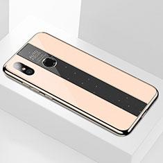 Custodia Silicone Specchio Laterale Cover M02 per Xiaomi Mi 6X Oro