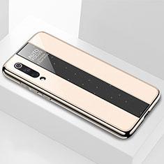 Custodia Silicone Specchio Laterale Cover M02 per Xiaomi Mi 9 Oro