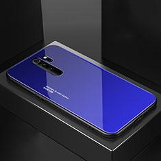 Custodia Silicone Specchio Laterale Cover M02 per Xiaomi Redmi Note 8 Pro Blu