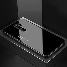 Custodia Silicone Specchio Laterale Cover M02 per Xiaomi Redmi Note 8 Pro Nero
