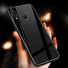 Custodia Silicone Specchio Laterale Cover M03 per Huawei Honor 10 Lite Nero