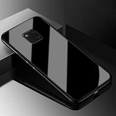 Custodia Silicone Specchio Laterale Cover M03 per Huawei Mate 20 Pro Nero