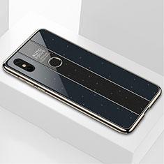 Custodia Silicone Specchio Laterale Cover M03 per Xiaomi Mi Mix 3 Nero
