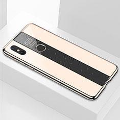 Custodia Silicone Specchio Laterale Cover M03 per Xiaomi Mi Mix 3 Oro