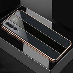 Custodia Silicone Specchio Laterale Cover M04 per Huawei P20 Pro Nero