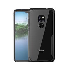 Custodia Silicone Specchio Laterale Cover M05 per Huawei Mate 20 Nero