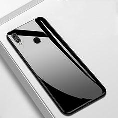 Custodia Silicone Specchio Laterale Cover M05 per Huawei Y9 (2019) Nero