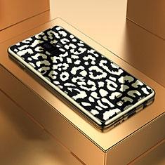 Custodia Silicone Specchio Laterale Cover M05 per Samsung Galaxy S9 Nero