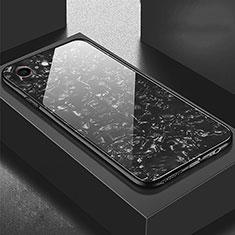 Custodia Silicone Specchio Laterale Cover P01 per Apple iPhone 6S Plus Nero