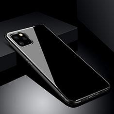 Custodia Silicone Specchio Laterale Cover per Apple iPhone 11 Pro Max Nero
