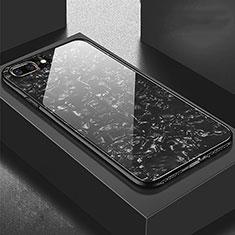 Custodia Silicone Specchio Laterale Cover per Apple iPhone 7 Plus Nero