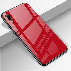 Custodia Silicone Specchio Laterale Cover per Huawei Enjoy 9e Rosso