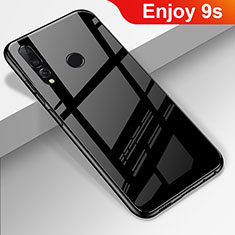 Custodia Silicone Specchio Laterale Cover per Huawei Enjoy 9s Nero