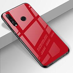 Custodia Silicone Specchio Laterale Cover per Huawei Enjoy 9s Rosso