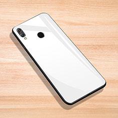 Custodia Silicone Specchio Laterale Cover per Huawei Enjoy Max Bianco