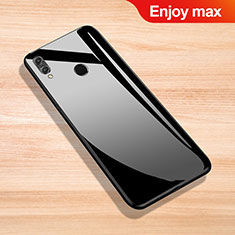 Custodia Silicone Specchio Laterale Cover per Huawei Enjoy Max Nero