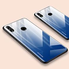 Custodia Silicone Specchio Laterale Cover per Huawei Honor 10 Lite Blu
