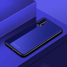 Custodia Silicone Specchio Laterale Cover per Huawei Honor 20 Pro Blu