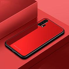 Custodia Silicone Specchio Laterale Cover per Huawei Honor 20 Pro Rosso