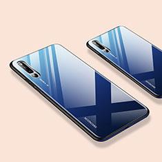 Custodia Silicone Specchio Laterale Cover per Huawei Honor Magic 2 Blu
