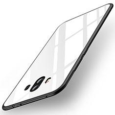 Custodia Silicone Specchio Laterale Cover per Huawei Mate 10 Bianco