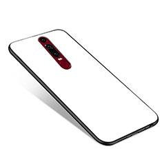 Custodia Silicone Specchio Laterale Cover per Huawei Mate RS Bianco