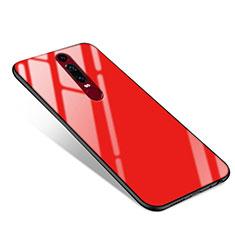 Custodia Silicone Specchio Laterale Cover per Huawei Mate RS Rosso