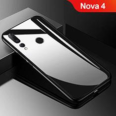 Custodia Silicone Specchio Laterale Cover per Huawei Nova 4 Nero