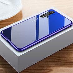 Custodia Silicone Specchio Laterale Cover per Huawei Nova 5T Blu
