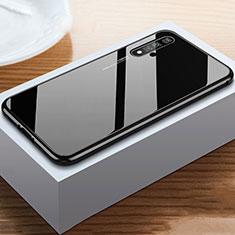 Custodia Silicone Specchio Laterale Cover per Huawei Nova 5T Nero