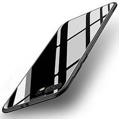 Custodia Silicone Specchio Laterale Cover per Huawei P10 Plus Nero