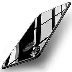 Custodia Silicone Specchio Laterale Cover per Huawei P20 Lite Nero