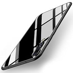Custodia Silicone Specchio Laterale Cover per Huawei P20 Pro Nero