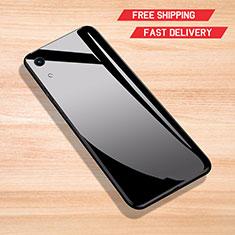 Custodia Silicone Specchio Laterale Cover per Huawei Y6 (2019) Nero