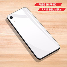 Custodia Silicone Specchio Laterale Cover per Huawei Y6 Pro (2019) Bianco