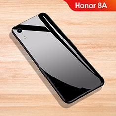 Custodia Silicone Specchio Laterale Cover per Huawei Y6 Pro (2019) Nero