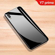 Custodia Silicone Specchio Laterale Cover per Huawei Y7 Prime (2019) Nero
