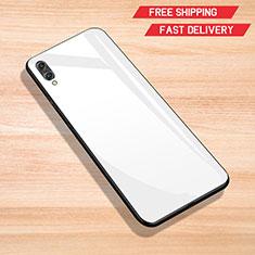 Custodia Silicone Specchio Laterale Cover per Huawei Y7 Pro (2019) Bianco
