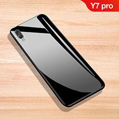 Custodia Silicone Specchio Laterale Cover per Huawei Y7 Pro (2019) Nero