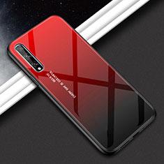 Custodia Silicone Specchio Laterale Cover per Huawei Y8p Rosso