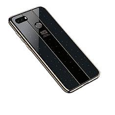 Custodia Silicone Specchio Laterale Cover per Huawei Y9 (2018) Nero
