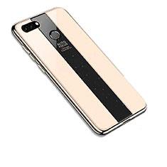 Custodia Silicone Specchio Laterale Cover per Huawei Y9 (2018) Oro