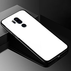 Custodia Silicone Specchio Laterale Cover per LG G7 Bianco