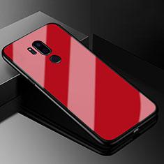 Custodia Silicone Specchio Laterale Cover per LG G7 Rosso