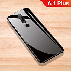 Custodia Silicone Specchio Laterale Cover per Nokia 6.1 Plus Nero