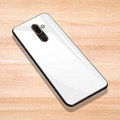 Custodia Silicone Specchio Laterale Cover per Nokia 7 Plus Bianco