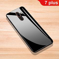 Custodia Silicone Specchio Laterale Cover per Nokia 7 Plus Nero