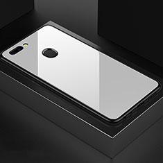 Custodia Silicone Specchio Laterale Cover per OnePlus 5T A5010 Bianco
