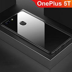 Custodia Silicone Specchio Laterale Cover per OnePlus 5T A5010 Nero